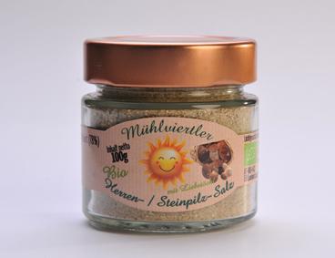 BIO Mühlviertler Herren- u. Steinpilzsalz für Saucen, Suppen und Pilzgerichte
